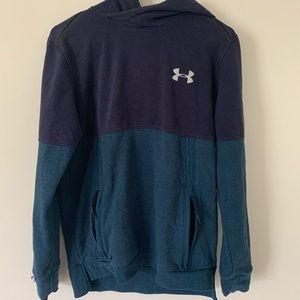 Dark/light blue under armour hoodie